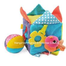 Factory Supply Baby Plush Stuffed Educational Block Toy