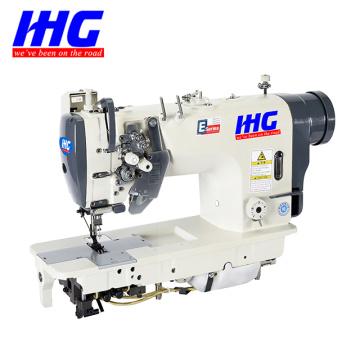 Máquina de costura de agulha dupla com barra de agulha dividida