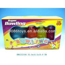Novo design transparente miúdos plástico bowling set