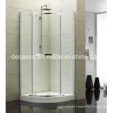 Chuveiro de liga de alumínio de vidro temperado deslizante sector (DV-S)