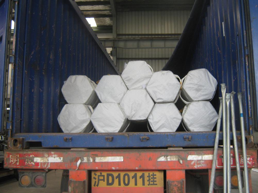 Steel Tube Open Top Container Loading