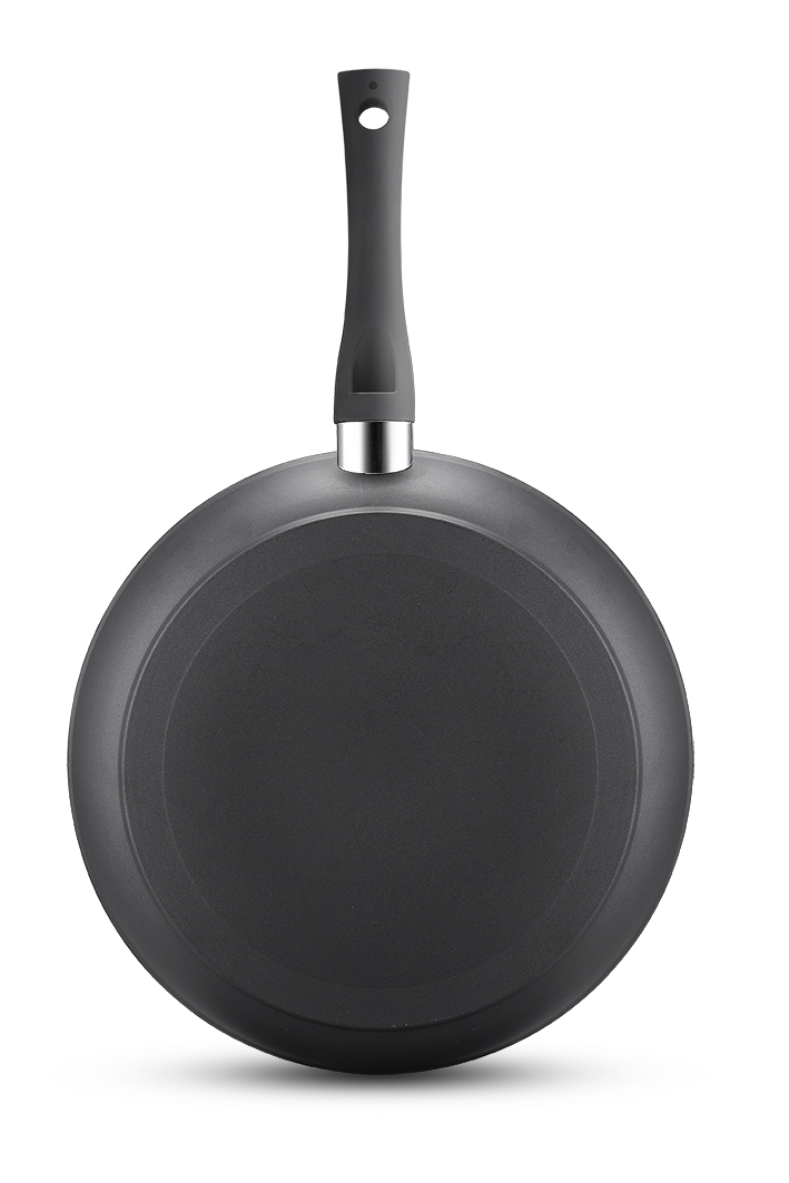 Black Forged Aluminum Frypan