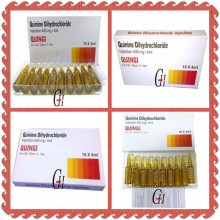 400mg / 4ml Antiparasitic Quinine Dihydrochloride Injection