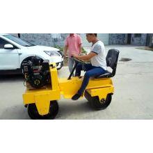 rolo-compactador de dupla roda de aço