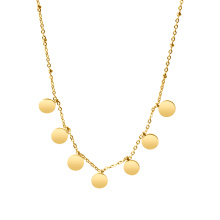 Luxury Disc necklace Women's Fashion Jewelry Stainless Steel necklace
