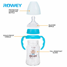 High-quality BPA Free Holds 120 ml Durable Glass Baby Milk Bottle Brands