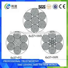 6x37+FC 6x37+IWS 6x37+IWR Mooring Wire Rope