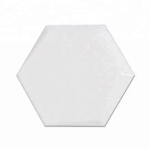 Supplier White Hexagon Non Slip Mirror Ceramic Bathroom Floor and Wall Tile