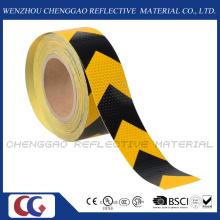 Schwarz und gelb PVC reflektierende Aufkleber Rolls mit Pfeil (C3500-AW)