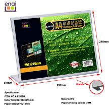 Самый дешевый, но высокое качество пластмасса PS отображения карты стенд держатель знак