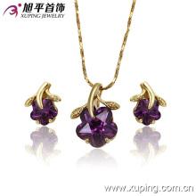 Alta qualidade 14k ouro cor moda jóias conjunto (62979)