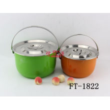 Stainless Steel Colorful Multi User Steamer (FT-1822)