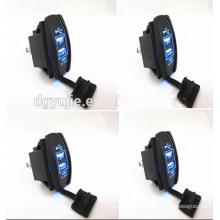 12V 24V 3.1A Motorcycle Car Dual USB Power Supply Charger Port Socket