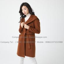 Kvinnor Medium Hooded Cashmere Coat