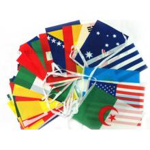 OEM PE Polyester National Banner String Flag Warning Flag