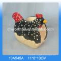 Lovely animal design ceramic rooster plate