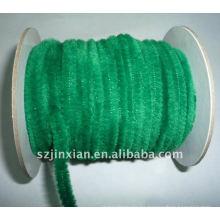 Vástago de chenilla verde de 6 mm para decoración de eventos