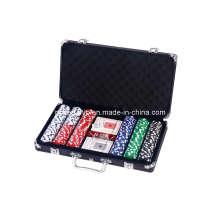Набор чипов для покера 300PCS в алюминиевом корпусе черного цвета (SY-S44)