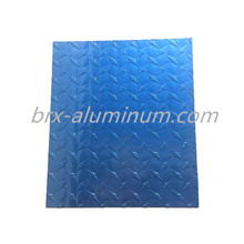 Blue Compass Pattern anodized aluminum plate