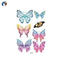 145 * 210mm série papillon boay autocollant de tatouage à Foshan