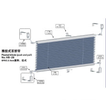 Push and Pull Pleated Blinds for Window (HB-29)