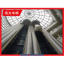Vidrio con marco de acero inoxidable Observación turística Elevador Ascensor