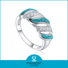 Fine Quality Silver Blue Turquoise Ring