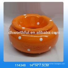 2016 Fábrica directamente cenicero de cerámica con tapa