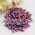Surtido Loose Red White Blue Striped Resina Collar de perlas Encontrar 500pcs En venta
