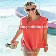 новое прибытие дамы жилет с коротким рукавом свитер вязаный кашемир футболка