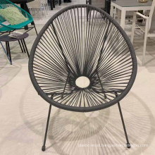 Steel Wicker Patio Rocking Chair Egg Rattan Acapulco Chair Wholesale Indoor Outdoor Outdoor Table Leisure Chair Modern 2 Years