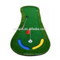 Hot sell Customized 3'x9' Foot-shape Rubber Golf Mat Indoor Mini Golf Putting Mat