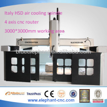 ELE-3030-4A 4 eixos fresadora cnc com alta precisão