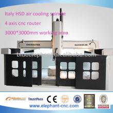 Эле-3030-4А 4 оси фрезерный станок с ЧПУ с высокой точностью