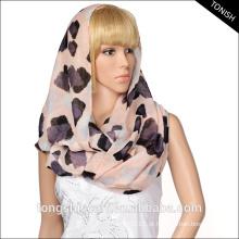 Lenço do laço do lenço do Infinito da senhora da forma com o lenço personalizado do voile da cópia