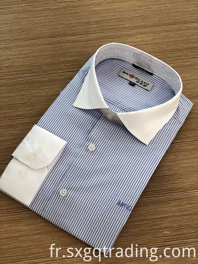 contrast collar and cuffs shirt