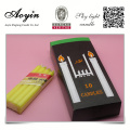 Paraffin wax color candle with candle packaging boxes