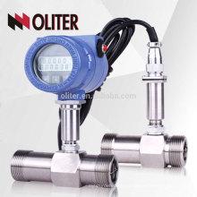 LWGY fabricante de alta precisión 4-20mA pulso 24VDC inteligente aceite líquido turbina de gas medidor de flujo con LCD