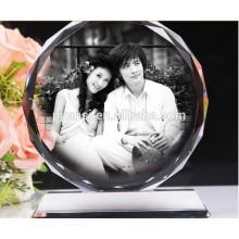 Красивый Кристалл фоторамки с рисунком для свадьбы Центральным