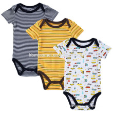 China supplier infant jumper playsuit 3 pack baby short sleeve newborn boy romper