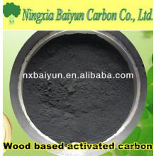325 Polvo de carbón activado a base de madera Mesh para decoloración