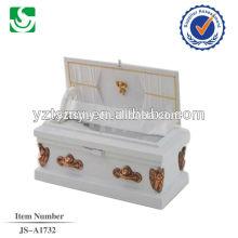 cercueil de bébé en bois de couleur blanche