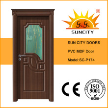 Luxury PVC Door PVC MDF Door with Door Crown (SC-P174)