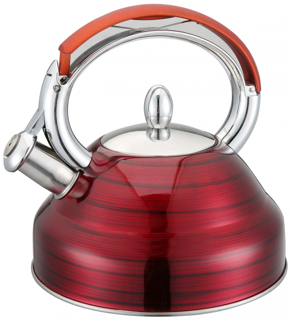 Red Heat Resistant Handle Painting Red Whistling Kettle