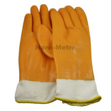 NMSAFETY 13g knitted liner full coated nitrile interlock cotton yellow nitrile working glove