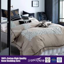 Conjunto de ropa de cama de patrón de flores de bordado