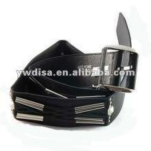 Women's Wide PU Plain Belts