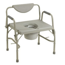 Steel folding commode chair with back CM003
