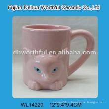 Популярные розовый шаблон лиса керамическая кружка