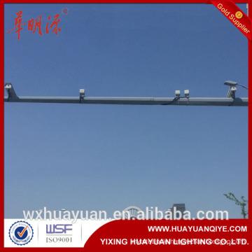 Steel traffic monitoring road cctv camera pole price